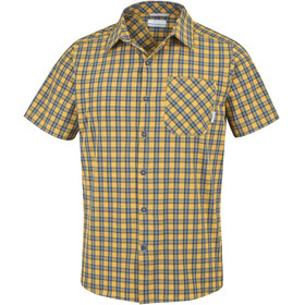 Columbia Triple Canyon Short Sleeve Shirt Men Stinger Plaid